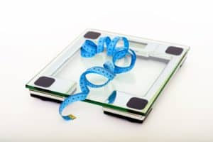 Weight scale and tap measure
