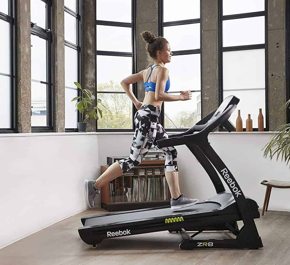 Runner on ZR8 treadmill